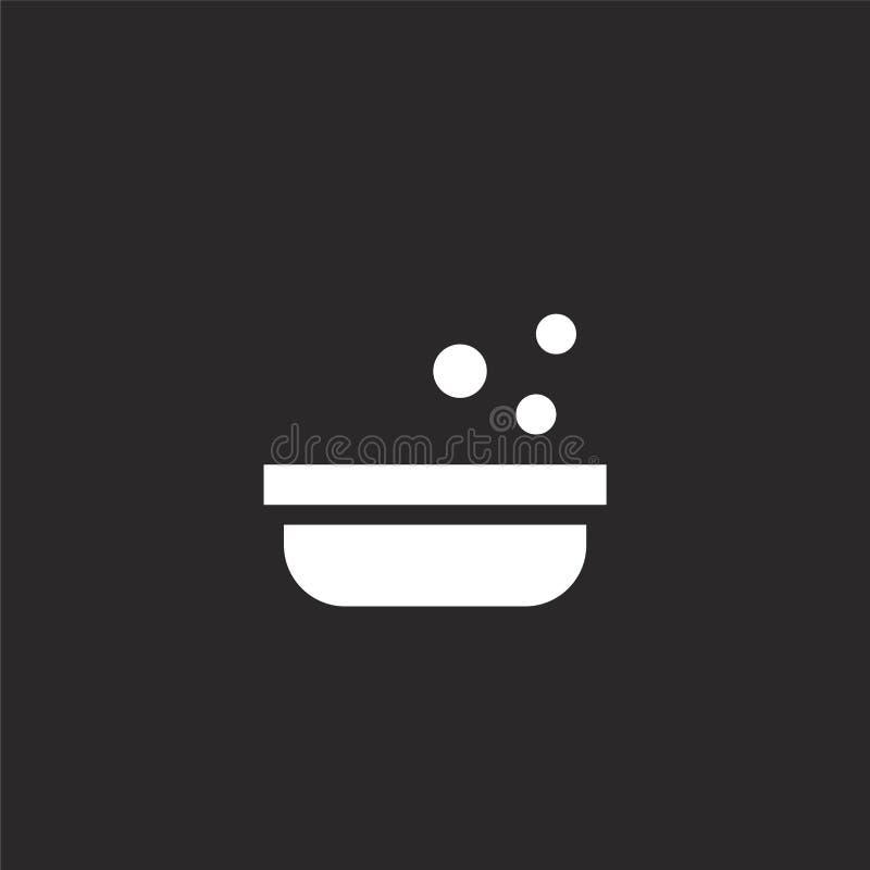 Badkuippictogram Gevuld badkuippictogram voor websiteontwerp en mobiel, app ontwikkeling badkuippictogram van gevulde huisdiereni stock illustratie