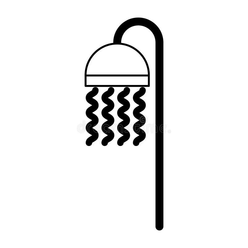 Badkuiptapkraan geïsoleerd pictogram stock illustratie