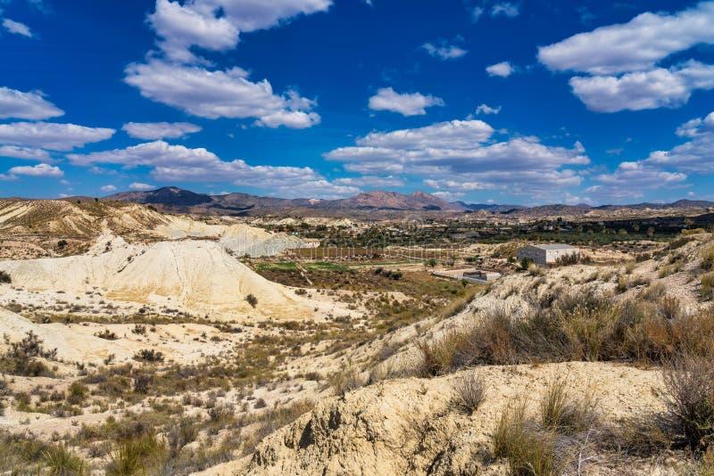 Badlands Abanilla i Mahoya blisko Murcia w Hiszpania obraz stock