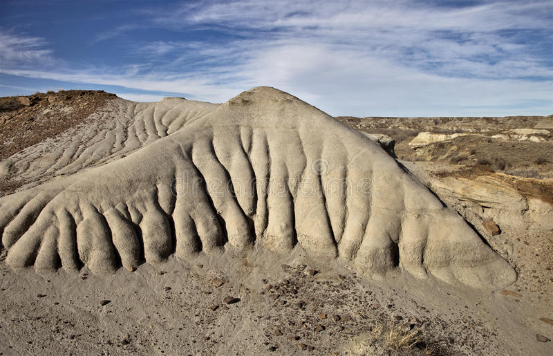 Badlands Alberta. Drumheller and Dinasaur Park Canada royalty free stock image