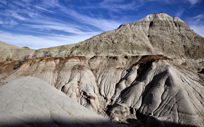 Badlands Alberta. Drumheller and Dinasaur Park Canada royalty free stock images