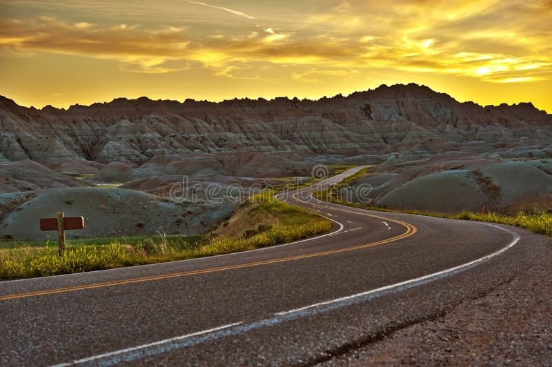 Badlands autostrada HDR obraz stock