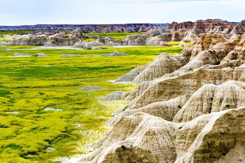 Badlands de Dakota del Norte imagen de archivo libre de regalías