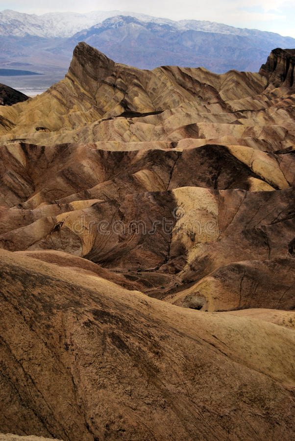 Badlands Death Valley stock photo
