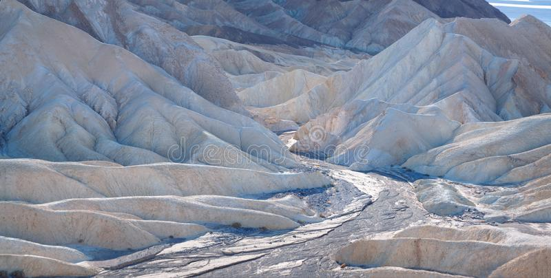 Badlands of Death Valley. Closeup stock photography