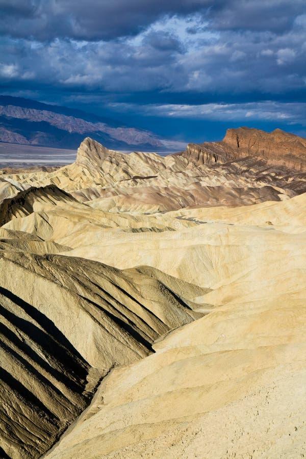 Badlands in Death Valley National Park stock image
