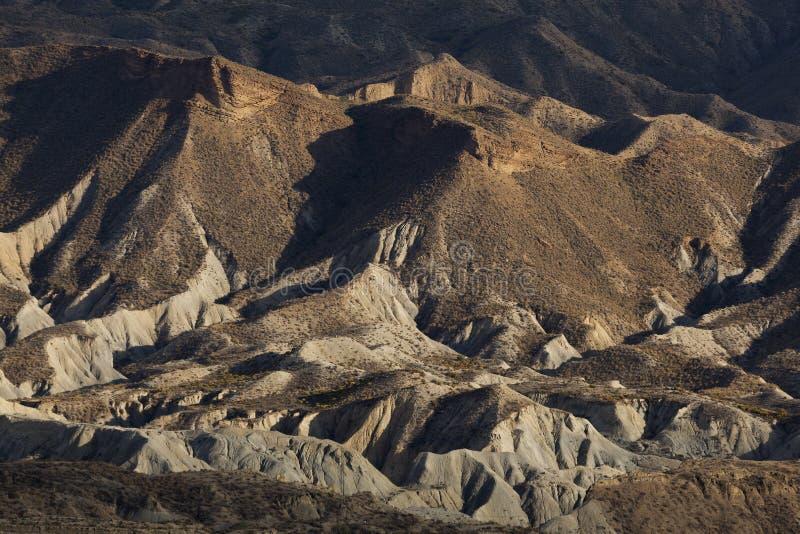 Badlands in the desert of Tabernas, Almeria. Andalucia, Spain stock photography