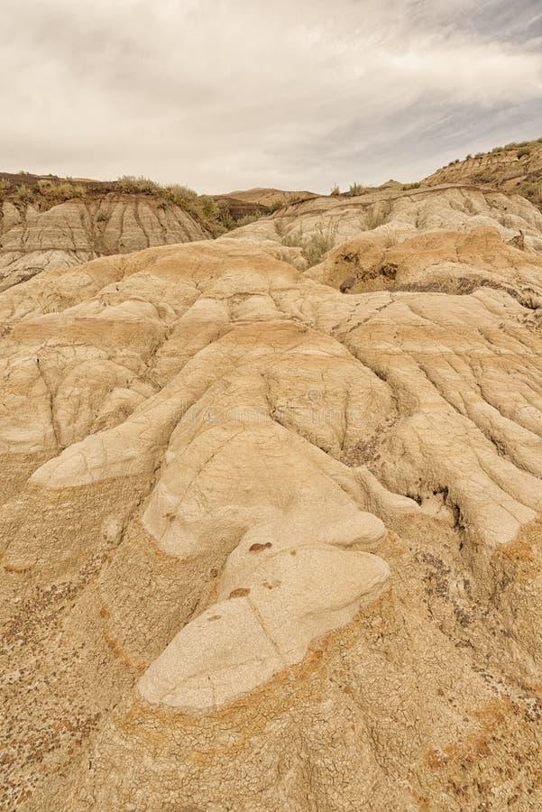 Badlands in Drumheller Alberta royalty-vrije stock afbeeldingen