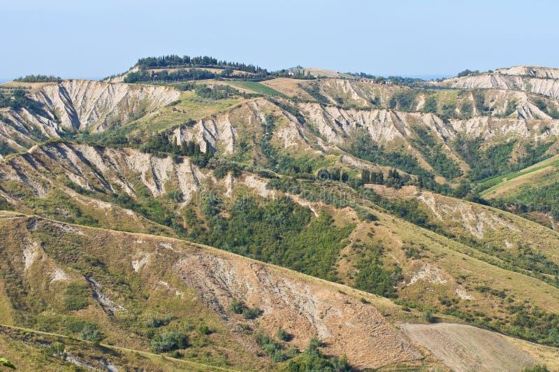 Download Badlands. Emilia-Romagna. Italië. Stock Afbeelding - Afbeelding bestaande uit blauw, ravijn: 29512119