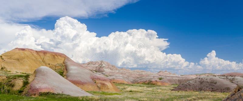 Badlands Nationaal Park Panorma stock afbeelding