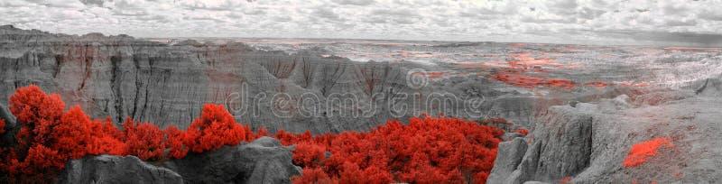 Badlands National Park, Infrared. South Dakota. royalty free stock photo