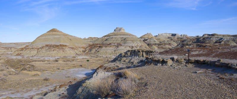 Badlands in Panorama van het Park van de Dinosaurus het Provinciale royalty-vrije stock foto's