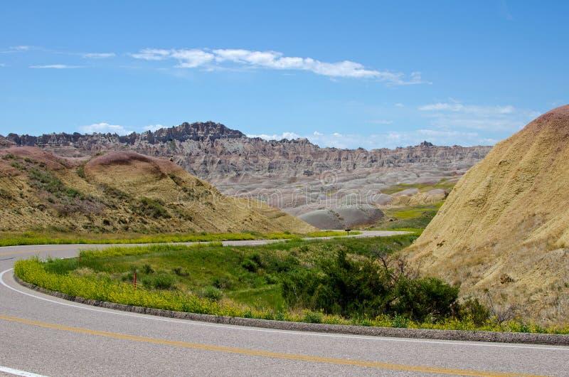 Badlands parque nacional, Dakota del Sur, los E.E.U.U. imagenes de archivo