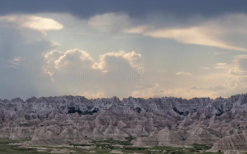Badlands parque nacional, Dakota del Sur fotos de archivo