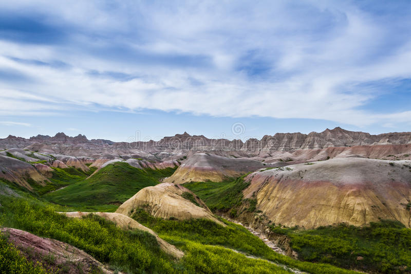 Badlands, South Dakota stock photography
