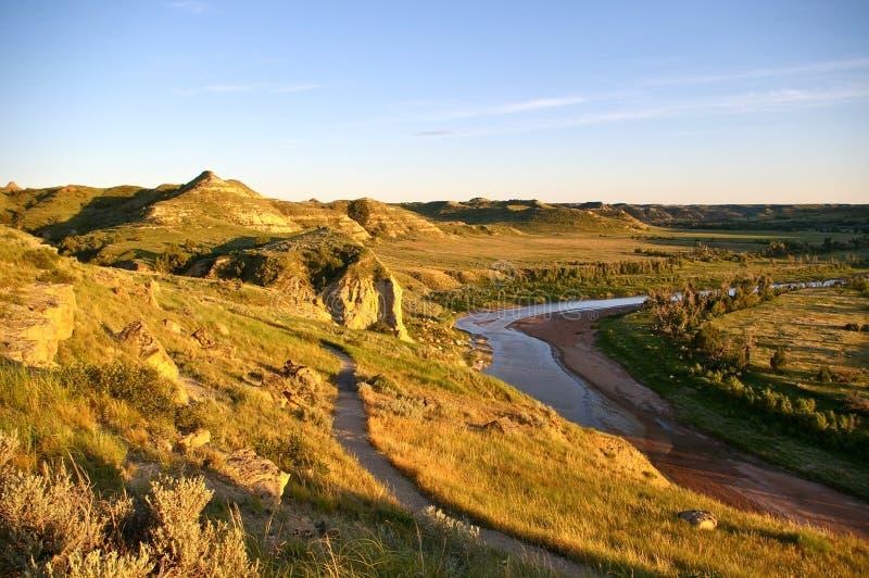 Badlands van Noord-Dakota stock afbeeldingen