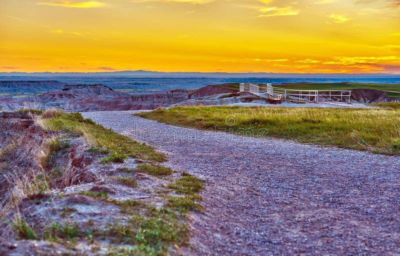 Badlands widoku punkt fotografia royalty free