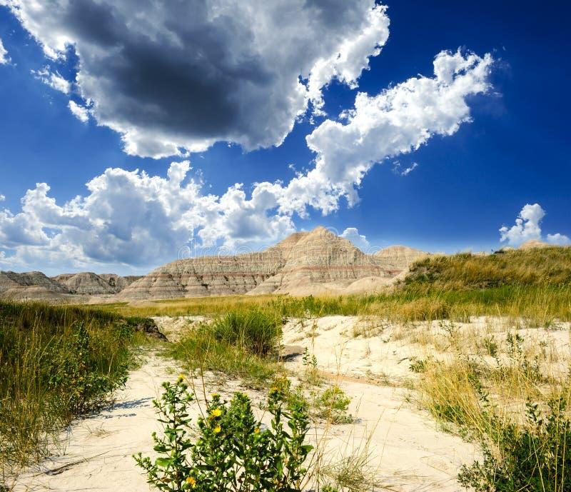 Badlands Zuid-Dakota stock afbeelding