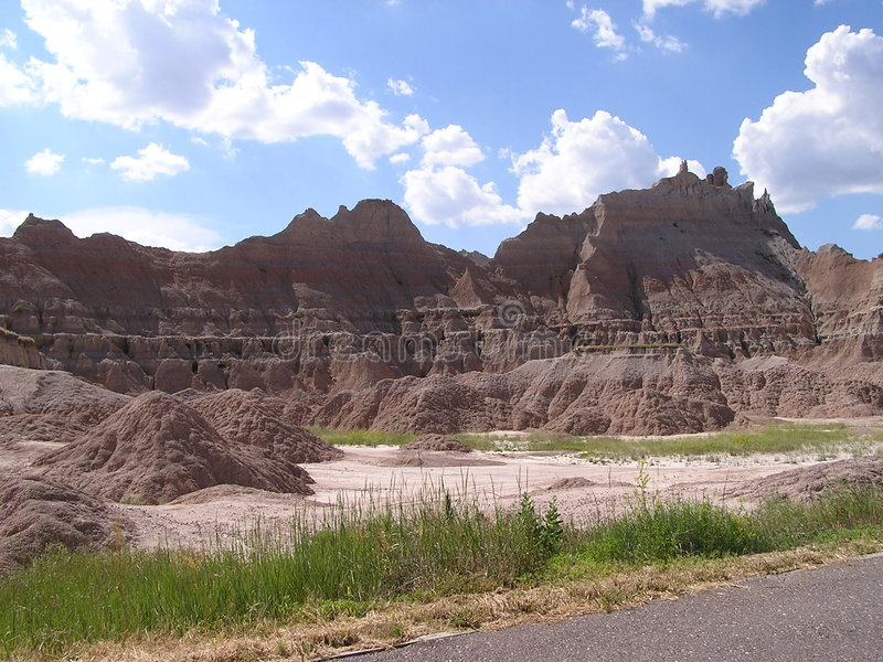 Download Badlands - Zuid-Dakota stock foto. Afbeelding bestaande uit land - 37006