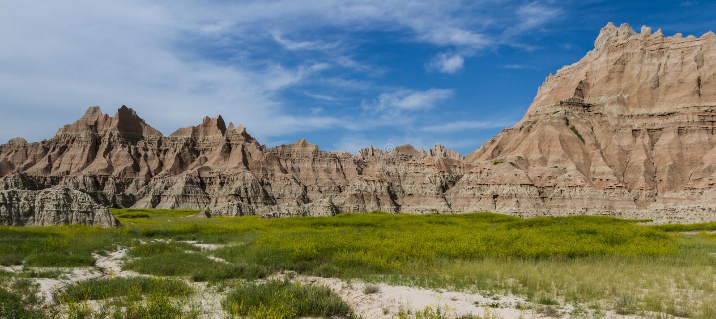 Badlands, Zuid-Dakota stock foto's