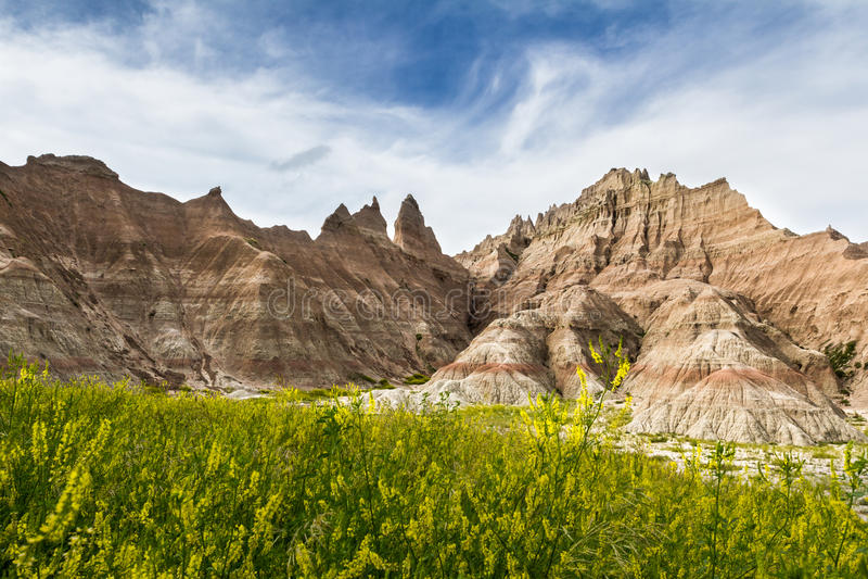 Badlands, Zuid-Dakota royalty-vrije stock afbeeldingen