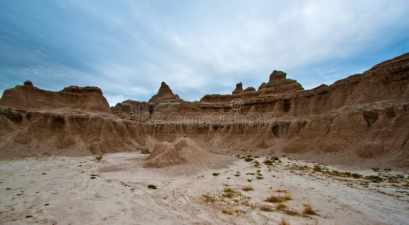 Badlands, Zuid-Dakota. Zonsopgang stock foto's