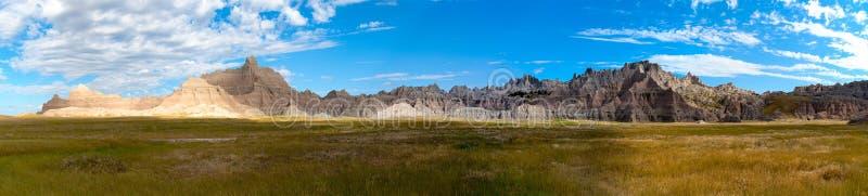 Badlands, Zuid-Dakota. Zonsopgang. Panorama stock foto
