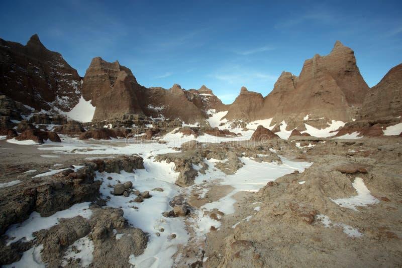 badlandsdakota nationalpark södra USA royaltyfria foton