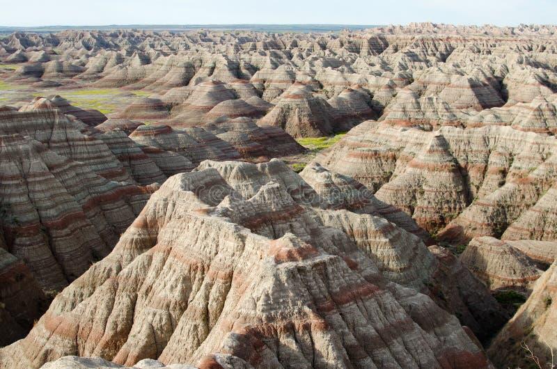 badlandsdakota nationalpark södra USA arkivbilder