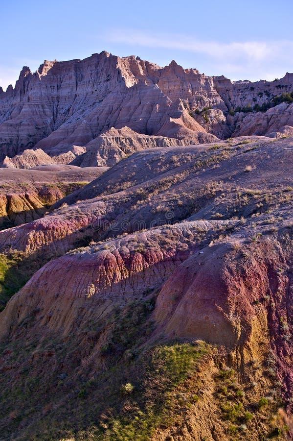 Badlandshöjdpunkter och Buttes arkivbilder