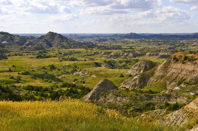 Badlandsna av North Dakota royaltyfri foto