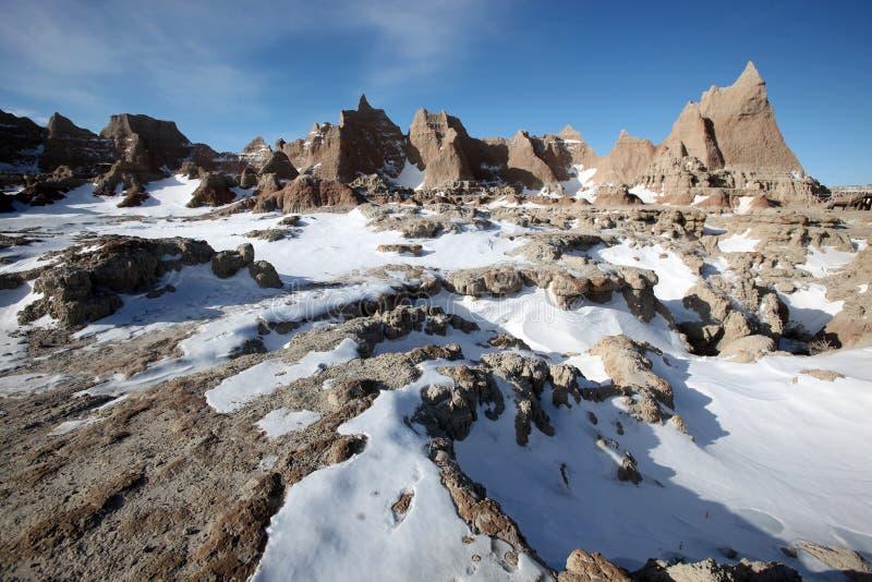 Badlandsnationalpark i South Dakota arkivfoto