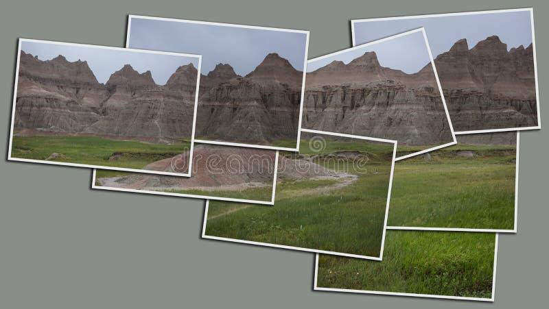 Badlandsnationalparkbunt av tryckpanorama royaltyfri fotografi