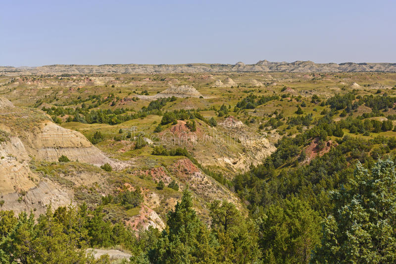 Badlandspanorama stock afbeeldingen