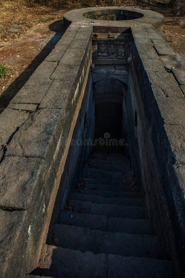 Badlapur Step Well-Badlapur Shivkalin Vihir aka Peshwa kalin Vihir Devaloli Villedge près du district de badlapur: Thane photo stock