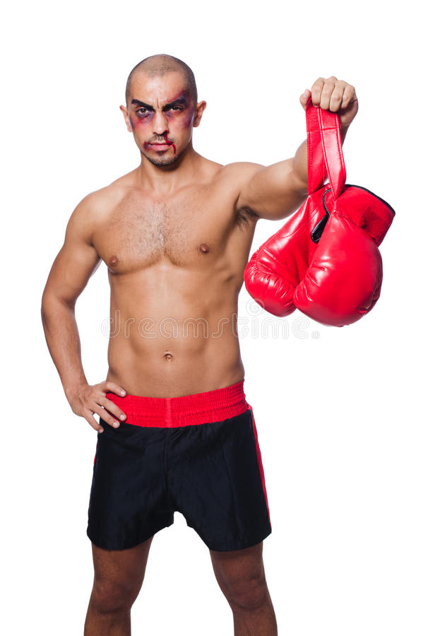 Download Badly beaten boxer stock image. Image of boxer, muscular - 34665081
