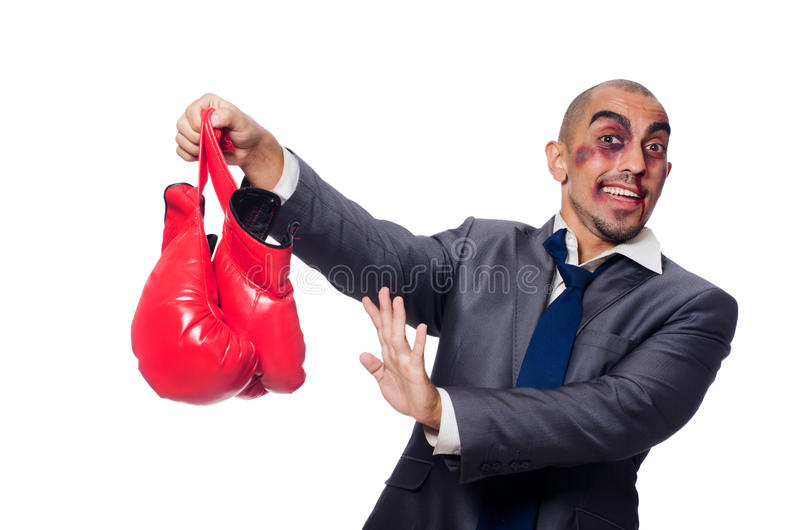 Download Badly beaten businessman stock photo. Image of office - 33678166