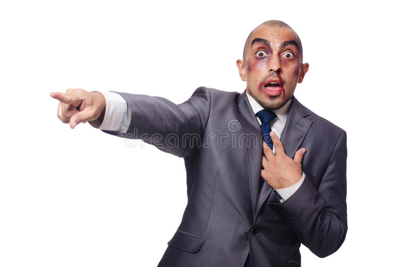 Download Badly beaten businessman stock image. Image of boss, blood - 42202539