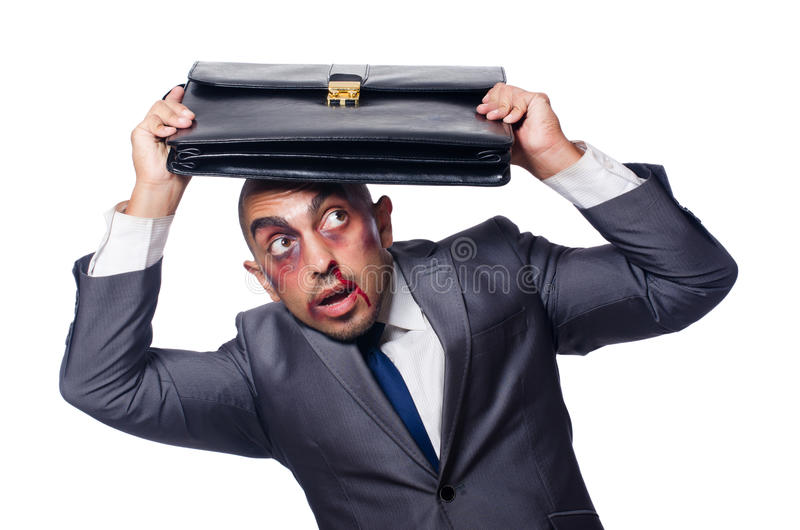 Download Badly Beaten Businessman Stock Photo - Image: 42202541