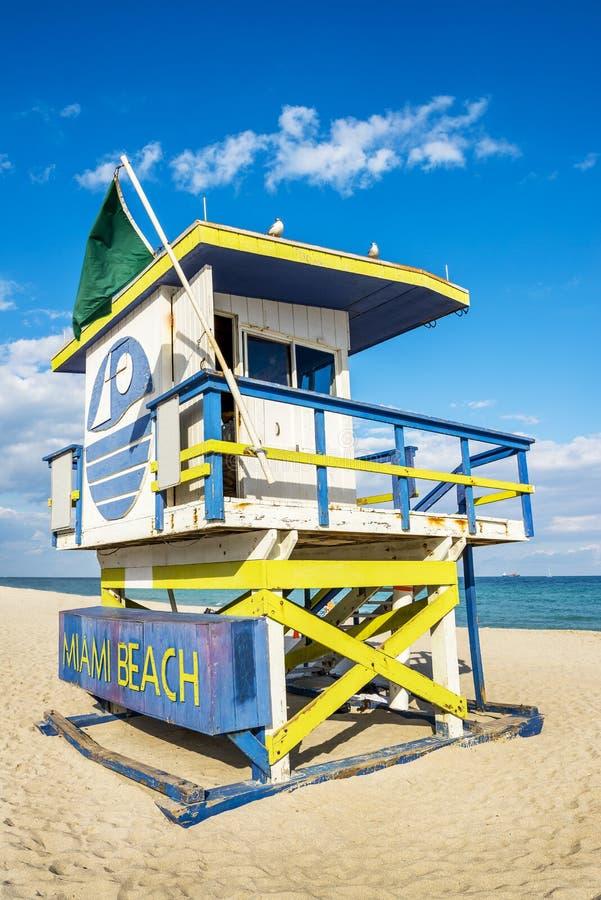Badmeester Tower, het Strand van Miami, Florida stock afbeeldingen