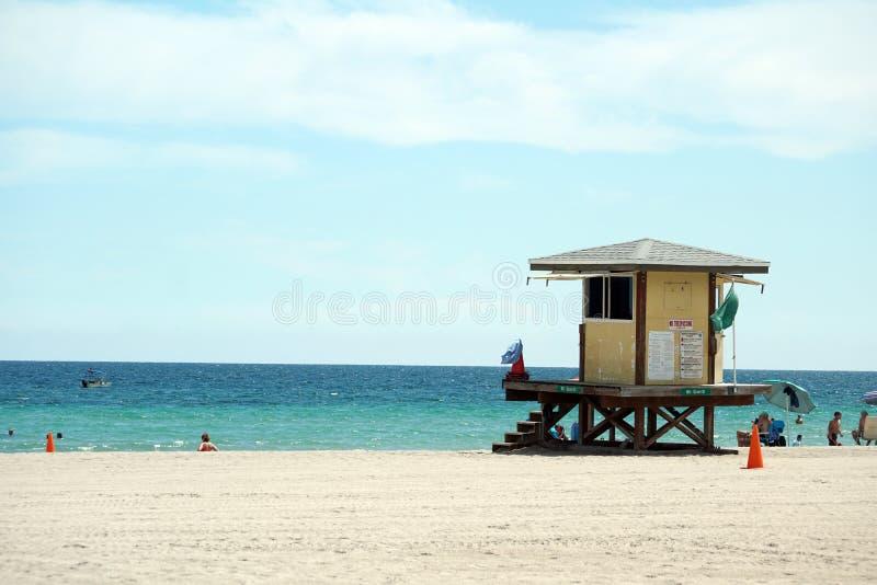 Badmeestertribune op Dania Beach, in Fort Lauderdale, Florida stock fotografie