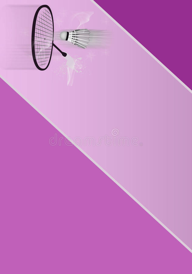 Download Badminton stock illustration. Illustration of dynamic - 25687270