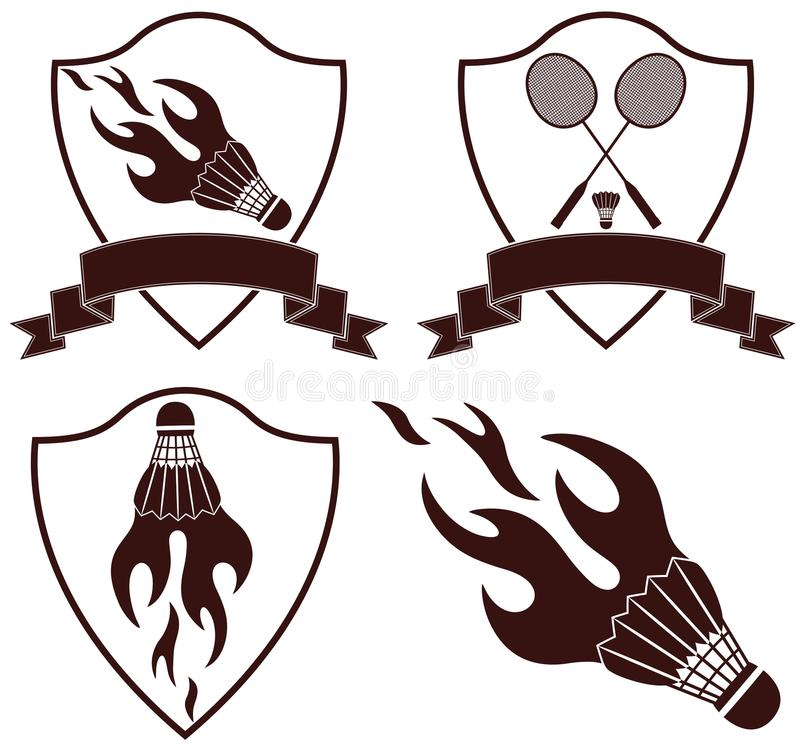 badminton stock abbildung