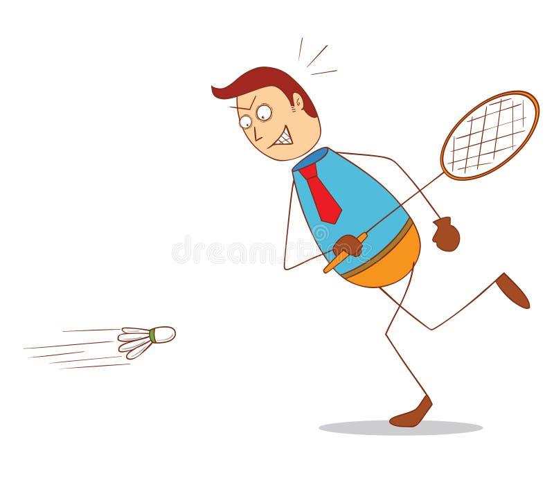 badminton ilustracja wektor