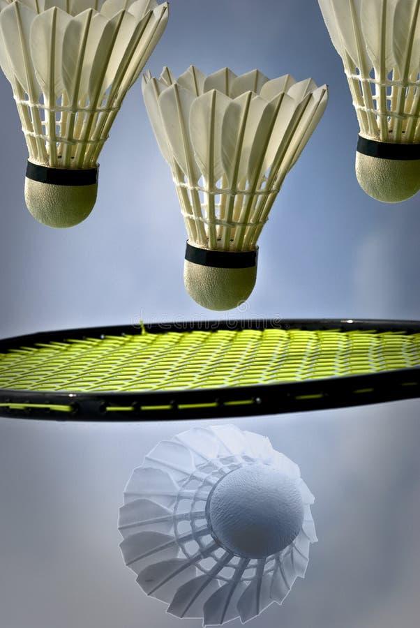 Badminton avec des shuttlecocks image libre de droits