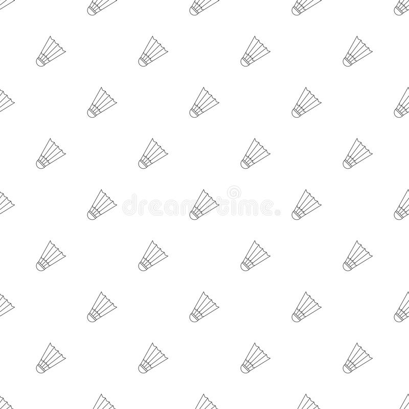 Badminton background from line icon. vector illustration
