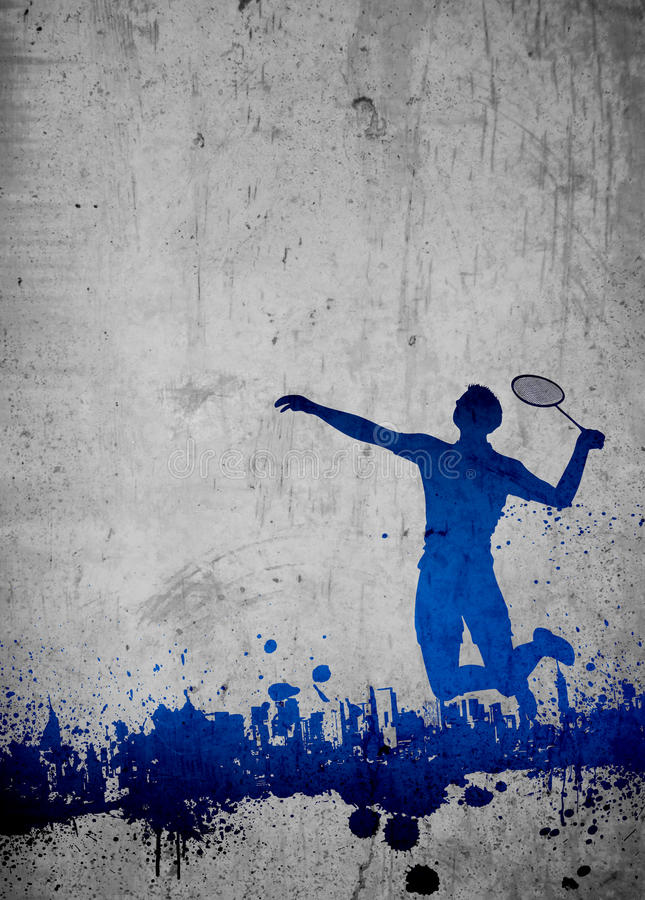 Badminton background. Badminton sport invitation poster or flyer background with empty space stock photography