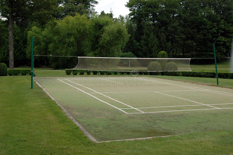 Badminton court stock image