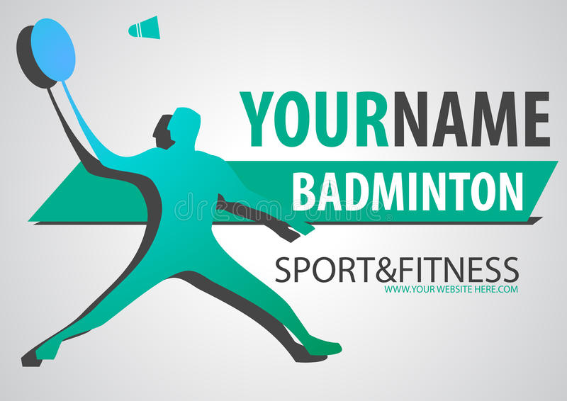 Badminton court business brand logo sport banner royalty free illustration