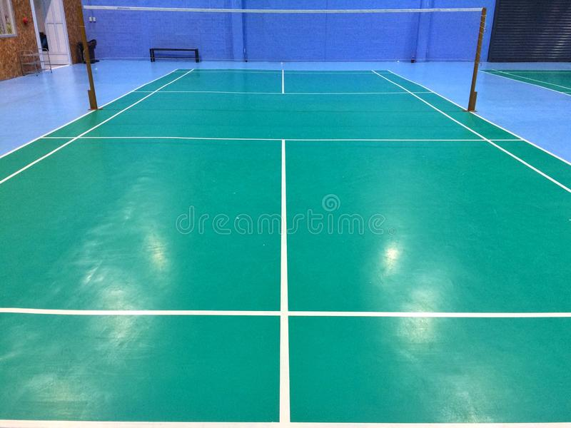 Badminton court. For exercise stock images